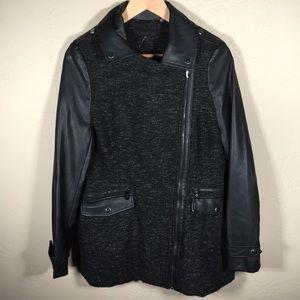 Steve Madden coat Mixed Media tweed black Sz. L